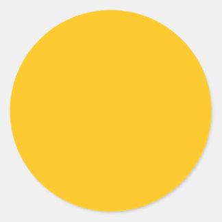 Acento ambarino amarillo de oro del color pegatina redonda