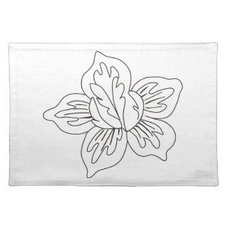 Acento de la flor mantel individual