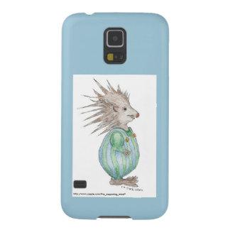 Acento del azul del caso de Samsung S5 del erizo Fundas Para Galaxy S5