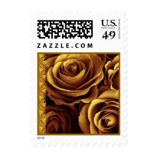 Acento del cordón del sello del boda de los rosas