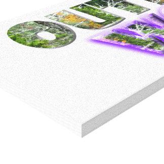 Acento del OUTDOORSWOMAN w/Purple Impresión En Lienzo Estirada
