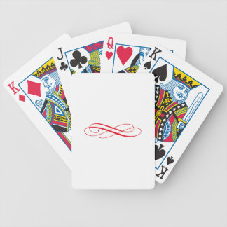 Acento del remolino barajas de cartas