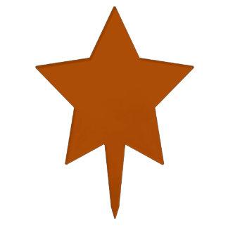 Acento marrón del color de la tierra de Siena Decoración Para Tarta