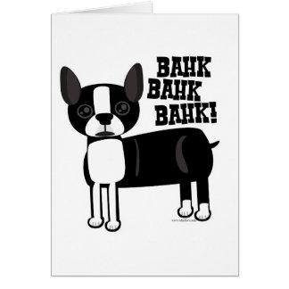 Acento Terrier de Boston Tarjeta De Felicitación
