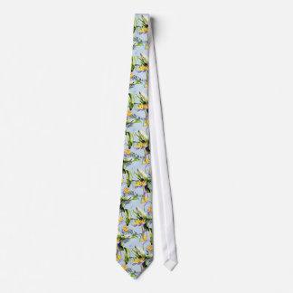 Acento tropical exótico del azul de la palma de corbata personalizada