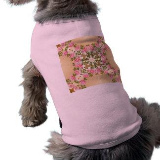 Acentos de oro de los rosas pasados de moda camisas de mascota