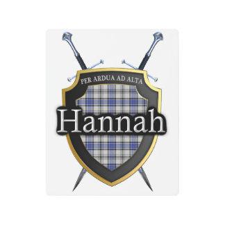 Acentos escoceses del tartán de Hannah Hannay del