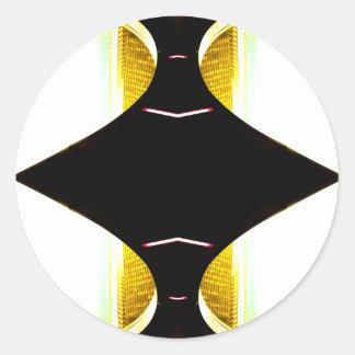 Acentos urbanos del arte de CricketDiane del oro Pegatina Redonda