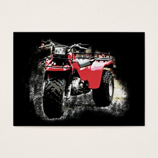 ACEO 3 Wheeler Motorcycle ATC on Black Business Card