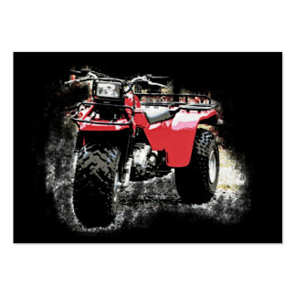 ACEO 3 Wheeler Motorcycle ATC on Black Large Business Card