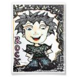 ACEO 4x5.4 Rocker Cartoon with Zentangle Art Photographic Print