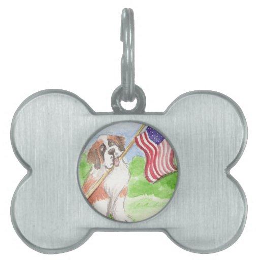 ACEO 50 orgulloso ser santo americano Placa De Mascota