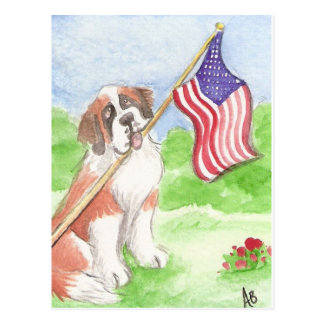 ACEO 50 Proud to be American Saint Postcard