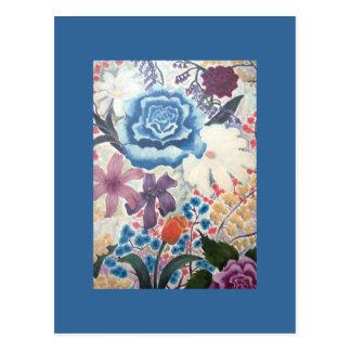 ACEO Art Trading Card - The Flower Garden
