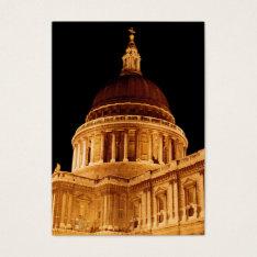 Aceo Atc Cathedral Glows At Night St Pauls London Business Card at Zazzle