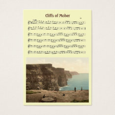 Aceo Atc Cliffs Of Moher Irish Music Jig Card at Zazzle