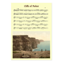 ACEO ATC Cliffs of Moher Irish Music Jig Card Business Card at  Zazzle