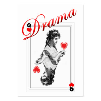 ACEO ATC drama queen red heart WITHOUT DOT Large Business Card