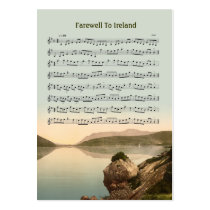 ACEO ATC Farewell to Ireland Music Reel Business Card Templates  at Zazzle