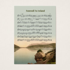 ACEO ATC Farewell to Ireland Music Reel Business Card at Zazzle
