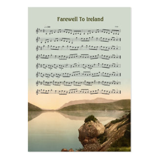 ACEO ATC Farewell to Ireland Music Reel Large Business Card