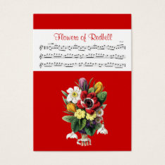 ACEO ATC Flowers of Redhill Irish Music Reel Card at Zazzle
