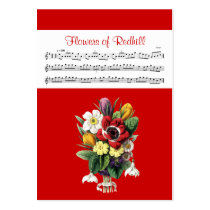 ACEO ATC Flowers of Redhill Irish Music Reel Card Business Card  Templates at Zazzle