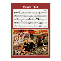 ACEO ATC Foxhunters Irish Music Reel Card Business Card Template  at Zazzle