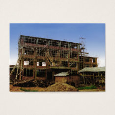 ACEO ATC House Building Brick Bamboo Business Card at Zazzle