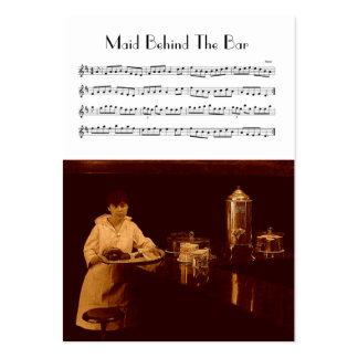 ACEO ATC Maid Behind The Bar Irish Music Reel Business Cards