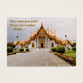ACEO ATC Marble Temple Gold over Khmer Lion Card