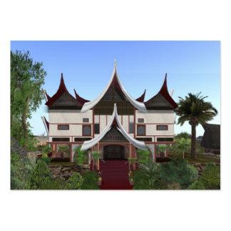 ACEO ATC Minangkabau Buffalo Horn Home Card