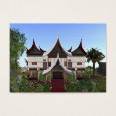 ACEO ATC Minangkabau Buffalo Horn Home Card at Zazzle