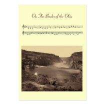 ACEO ATC On The Banks of The Ohio Folk Song Business Card  Templates at Zazzle