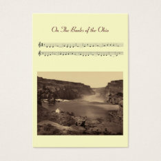 Aceo Atc On The Banks Of The Ohio Folk Song Business Card at Zazzle