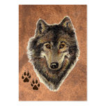 ACEO ATC Original Watercolor Grey Wolf Large Business Cards (Pack Of 100)