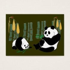 Aceo Atc Panda Eats Bamboo With Mango Card at Zazzle