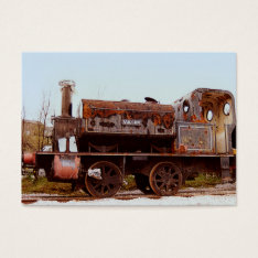 Aceo Atc Rusty Railway Steam Locomotive Business Card at Zazzle