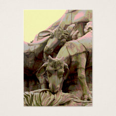 Aceo Atc Stone Goat In Park Grazing Monument Business Card at Zazzle