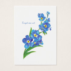 ACEO ATC Watercolor Forget me not Flower Art Business Card at Zazzle