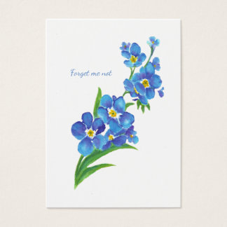ACEO ATC Watercolor Forget me not Flower Art Business Card