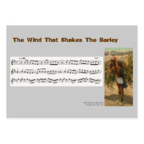 ACEO ATC Wind That Shakes the Barley Music Reel Business Cards at  Zazzle