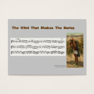 ACEO ATC Wind That Shakes the Barley Music Reel Business Card