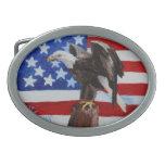 Aceo de Eagle de la libertad Hebilla De Cinturón Oval
