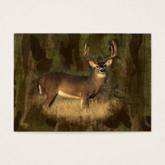 ACEO- Deer In Camoflage- Mini Print Business Card