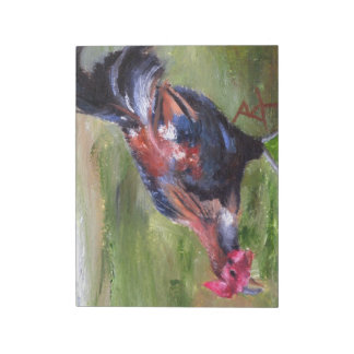 Aceo del gallo libreta para notas