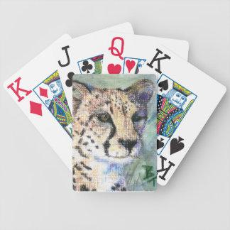 Aceo del retrato del guepardo cartas de juego