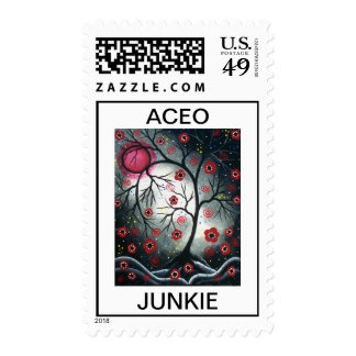 ACEO JUNKIE By Lori Everett POSTAGE
