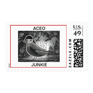 ACEO JUNKIE By Lori Everett POSTAGE STAMP