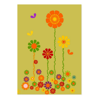 ACEO RETRO FLOWERS TRADING CARDS